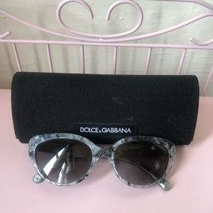 Dolce&Gabbana cat eye blue sunglasses